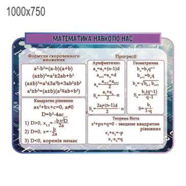 """Стенд """"Математика навколо нас"""" ХК 600157"""