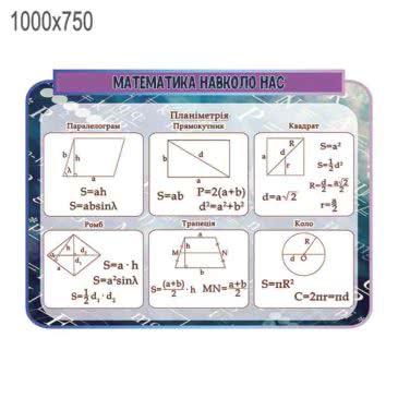 Стенд «Математика вокруг нас» ХК 600156