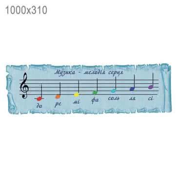 Стенд «Музика — мелодія серця»