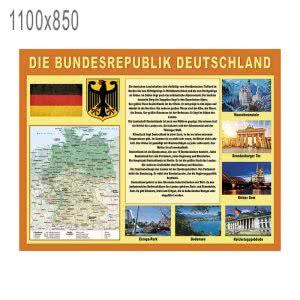 Стенд с картой и символикой Германии