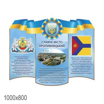 Стенд «Славный город Кропивницкий сине желтый»