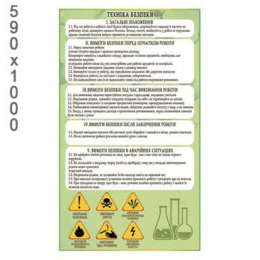 Стенд «Техника безопасности» химия