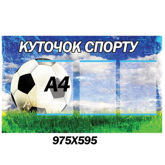 Уголок Спорта синий фото 42295