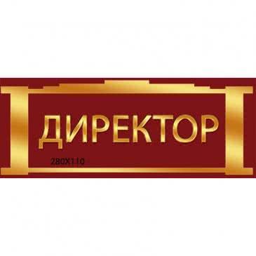 Табличка Директор бардовая